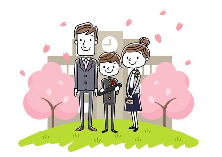 Graduation ceremony image: parents and boys