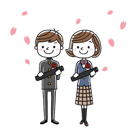 Graduation ceremony image: boys and girls
