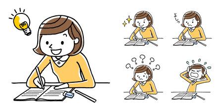 Dziewczyna studiuje odmianę studiów