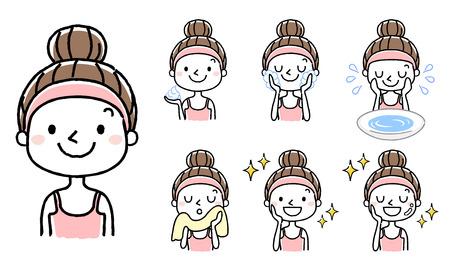 Face wash: set, variation