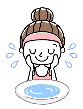 Gezicht wassen: wassen met water