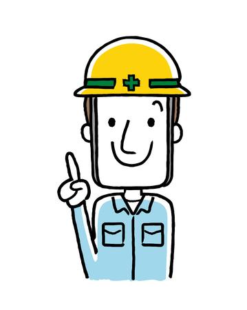 Werkende mensen, beroep: werknemers Stock Illustratie