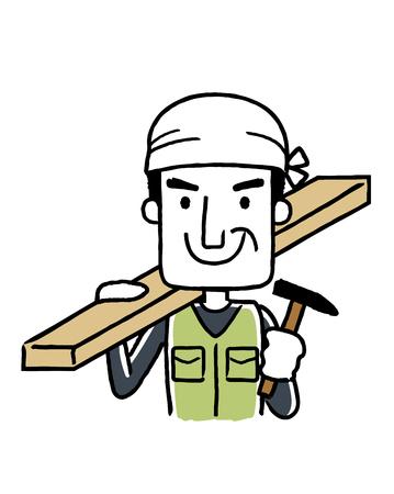 社会人、職業: 大工