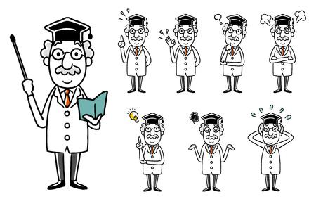 Dr.: Set, Variation  イラスト・ベクター素材