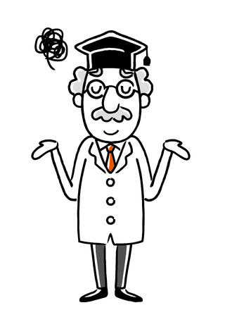 Doctor saying sorry. Illustration
