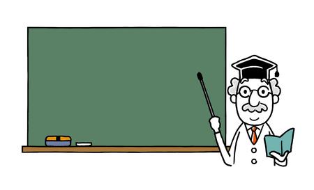 Dr.: Explained on the blackboard