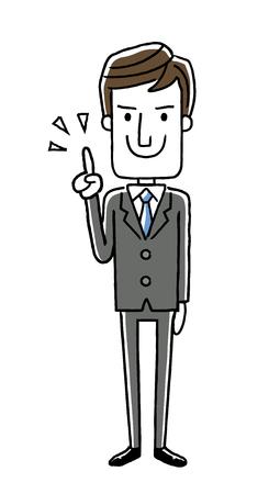 男性ビジネスマン: ポイント チェック