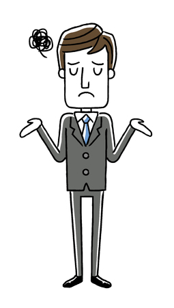Male businessman: I am embarrassed, for amazed Иллюстрация
