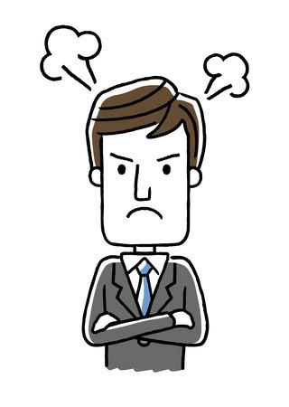 男性ビジネスマン: 怒っている、ストレス