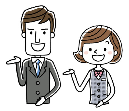 Commerce: Homme et femme Banque d'images - 80794607