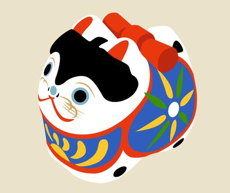 犬のイラスト: 日本スタイル。