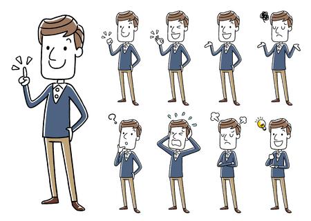 Male: Sets, variations