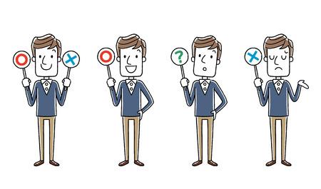 Male: Answer, set, variation Illustration