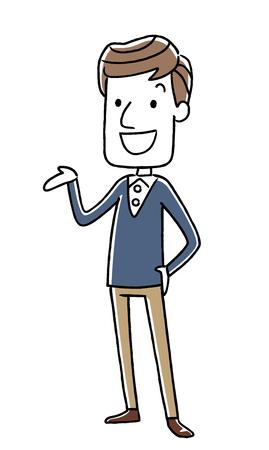 Male Referral information Illustration
