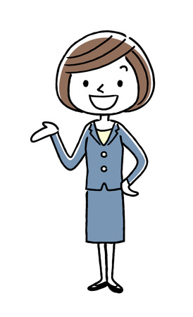 Business: Young lady, information Illustration