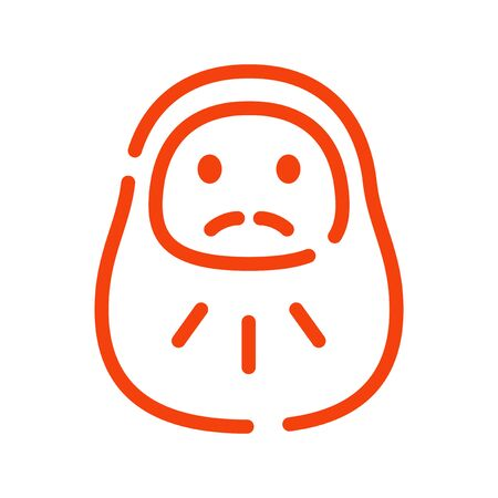 Daruma: New Year illustrations, icons, for New Year's cards   Banque d'images - 128912600