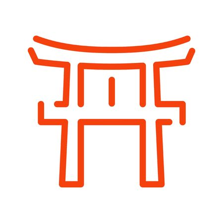 Torii: New Year illustrations, icons, for New Years cards Illustration