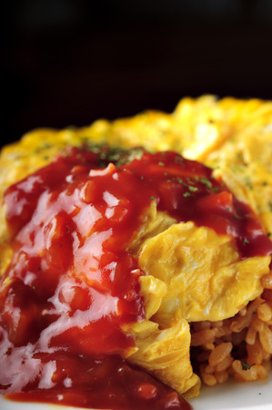 Rice omelet close up Stock Photo - 28750076
