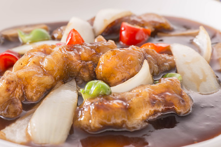 Sweet and sour pork Imagens