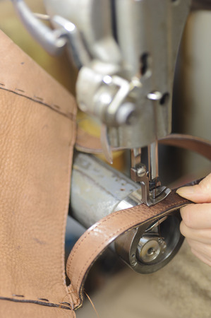 hook up: Sewing machine Stock Photo