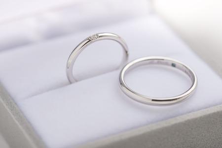 winning proposal: Marriage ring Stock Photo