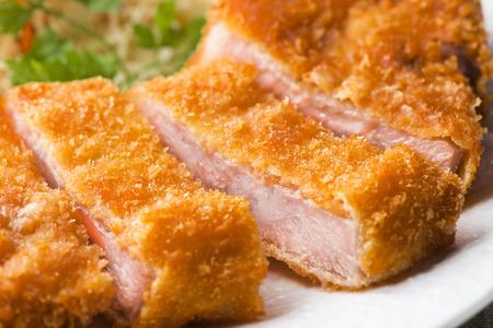 Pork cutlet 스톡 콘텐츠