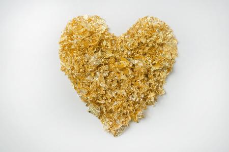 currency glitter: Heart mark Stock Photo