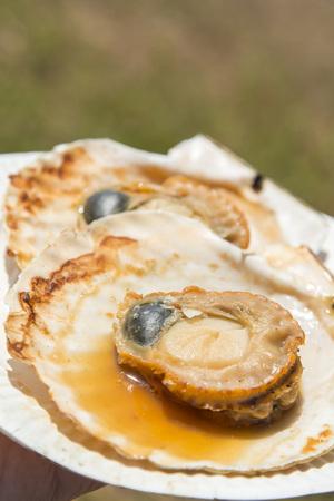 noix saint jacques: Scallop grillé
