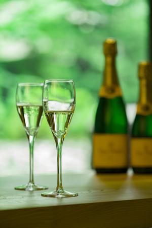 Enjoy your holiday slowly while drinking. Stock Photo
