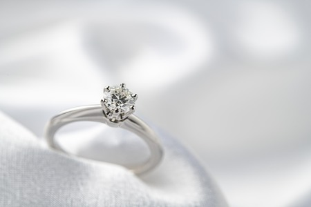 A beautiful wedding ring image Standard-Bild