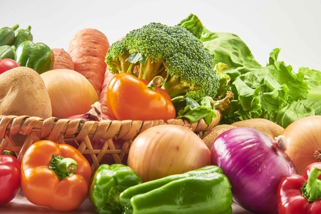 A collection of fresh and delicious vegetables Banco de Imagens
