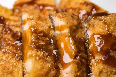 Delicious salmon fried in autumn Stock Photo