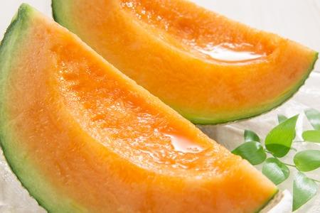 Anbau köstlicher Melonen von Bauern