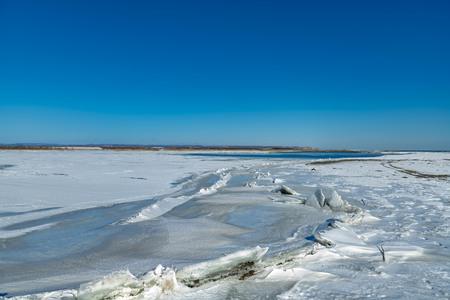 Beautiful winter snow scene