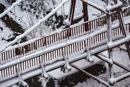 Cold winter snow scene Stock Photo
