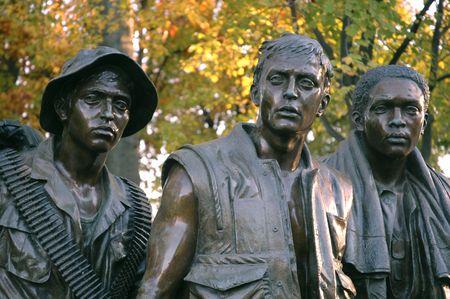 Vietnam Memorial in the Fall Redakční