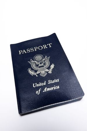 Close up of a United States passport