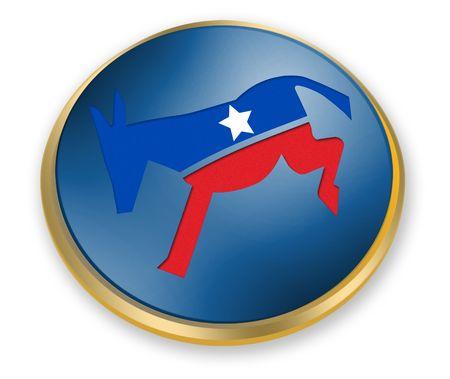 democrat party: Democrat Button