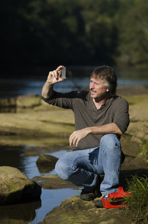 river       water: scientist is checking for issues in the water quality