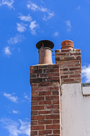 ozone layer: Chimney ,clear blue sky,clean environment
