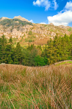 langdale: Begining the Days Hiking Stock Photo