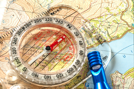 rescue west: Compass on Map and Rescue Whistle