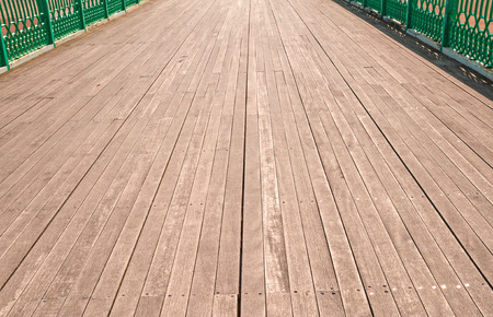 low perspective: Low perspective image of pier boardwalk