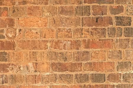 damaged: Old Damaged Brick Wall Stock Photo
