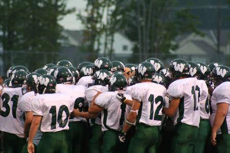 big game: American Football Team pronto per il grande gioco