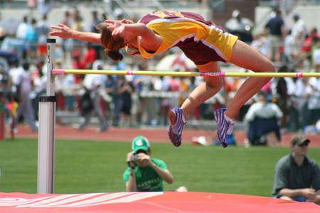 Image of female high jumper