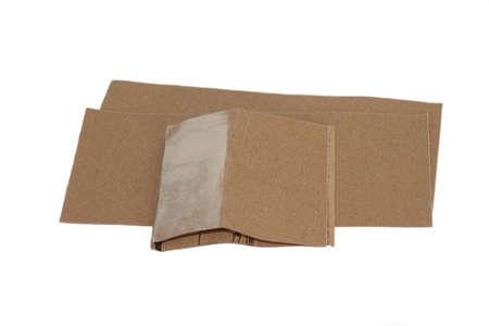 sandpaper: Image of sandpaper on white background