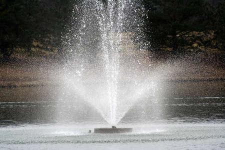 Afbeelding van water fontein Stockfoto