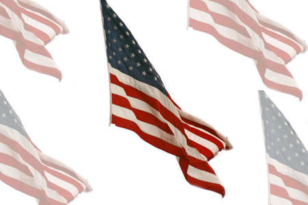 The American flag with images  Stock fotó