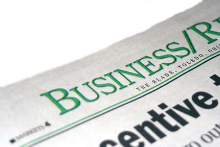 inform information: Business section of the newspaper